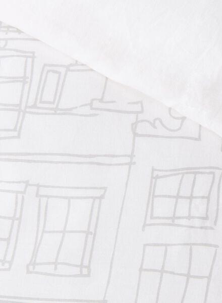dekbedovertrek - zacht katoen - 240 x 220 cm - wit grachtenpand - 5750030 - HEMA