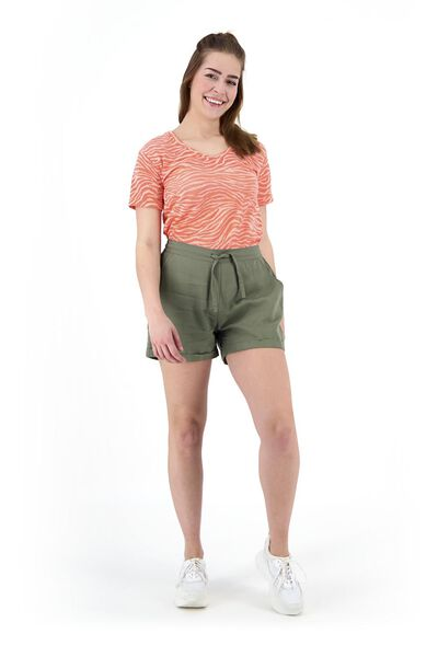 dames t-shirt oranje oranje - 1000019518 - HEMA