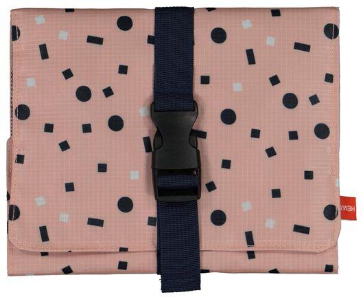 Toilettas met ophanghaak - uitvouwbaar - 44x20 - roze