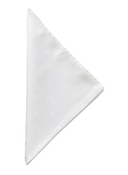 Servet - 48 x 48 - katoen - wit stip