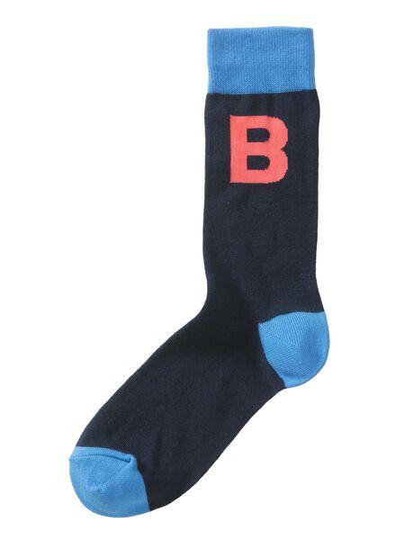 sokken maat 39-42 met letter B - 60530003 - HEMA