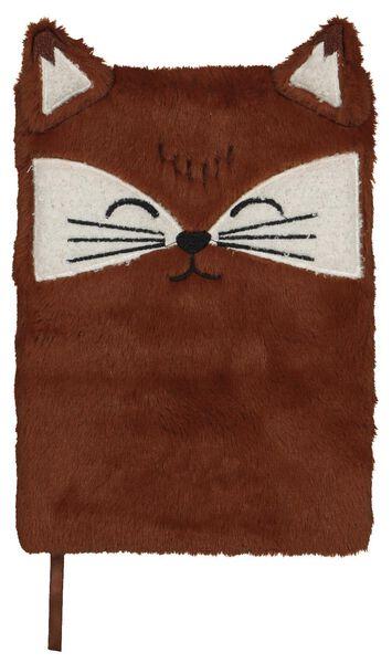 notitieboek A5 fluffy vos bruin - 14195500 - HEMA
