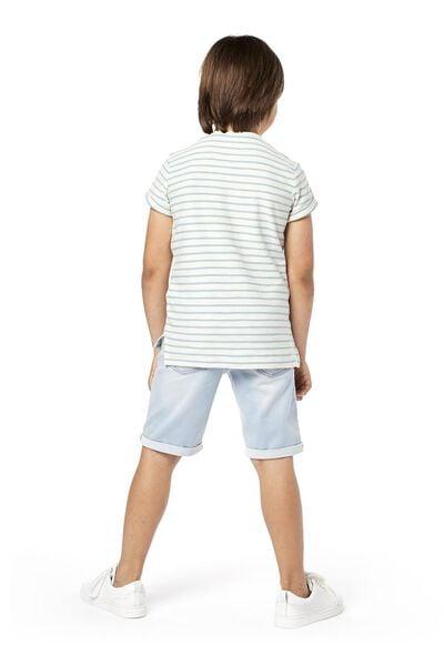 kindershort comfy fit lichtblauw 122/128 - 30763133 - HEMA