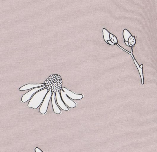 romper met bamboe stretch bloem lila lila - 1000020976 - HEMA