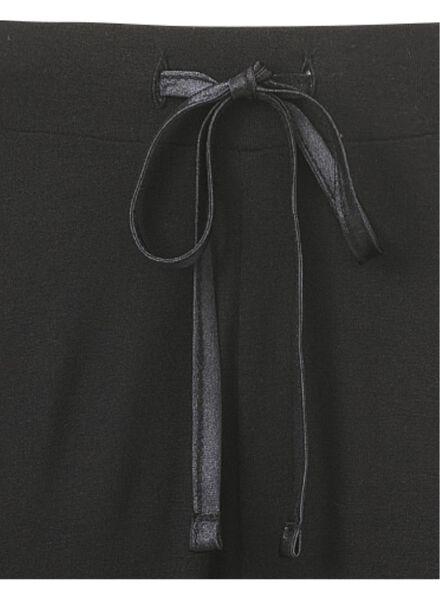 dames pyjamabroek zwart zwart - 1000002869 - HEMA