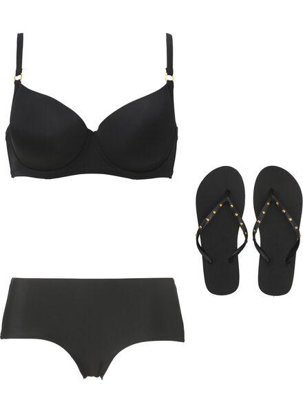 dames bikini hipster zwart zwart - 1000006618 - HEMA