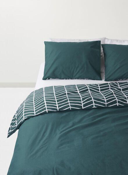 dekbedovertrek - 140 x 200 - zacht katoen - groen - 5710070 - HEMA
