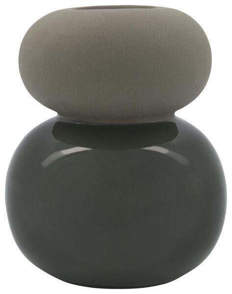 vaas Ø17x22 keramiek bollen groen - 13311083 - HEMA
