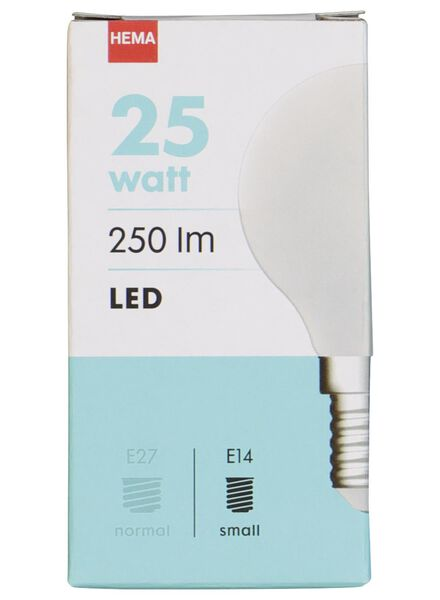 LED lamp 25W - 250 lm - kogel - mat - 20020033 - HEMA