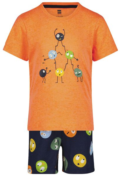 kindershortama smileys oranje 98/104 - 23094032 - HEMA
