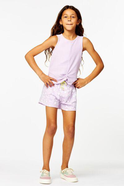 kinder singlet met knoop lila lila - 1000024233 - HEMA