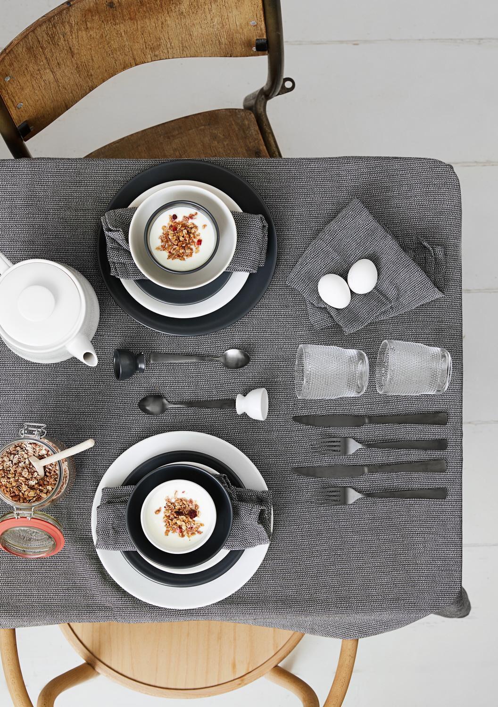 HEMA Ontbijtbord - 20 Cm - Amsterdam - Mat Grijs (grijs)