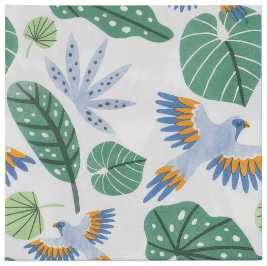 servetten - 33 x 33 - papier - bladeren - 20 stuks - 14280120 - HEMA