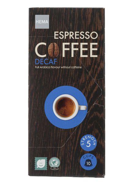 10-pak capsules espresso decaf - 17100067 - HEMA