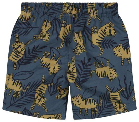 baby zwembroek recycled tijgers blauw 62/68 - 33211921 - HEMA