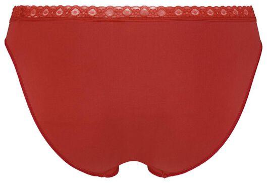 damesslip naadloos kant rood M - 19650007 - HEMA