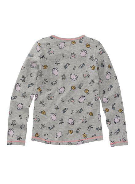 kinderpyjama grijsmelange grijsmelange - 1000009658 - HEMA