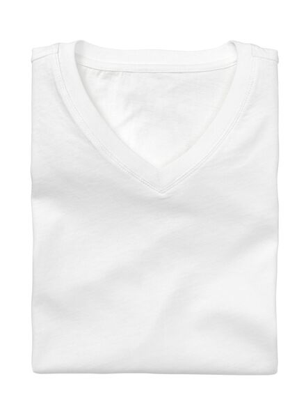 2-pak heren t-shirts regular-fit wit wit - 1000005962 - HEMA