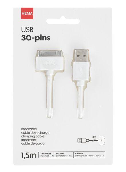 USB laadkabel 30-pins 1.5 meter - 39610071 - HEMA