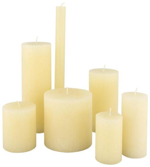 rustieke kaarsen ivoor ivoor - 1000020025 - HEMA