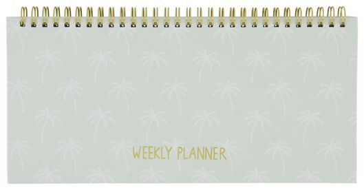 weekplanner spiraal 13x27 palmboom - 14100075 - HEMA