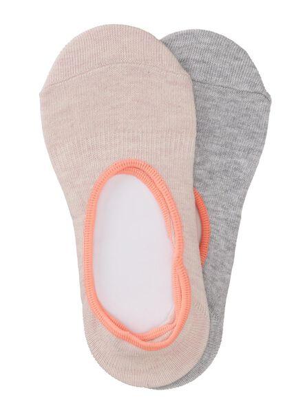2-pak kinder sneakersokken roze roze - 1000006429 - HEMA