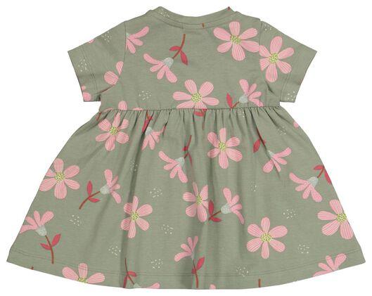 babyjurk bloemen groen groen - 1000022635 - HEMA