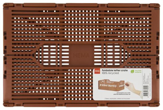 klapkratje letterbord recycled 20x30x11.5 terra - 39821022 - HEMA
