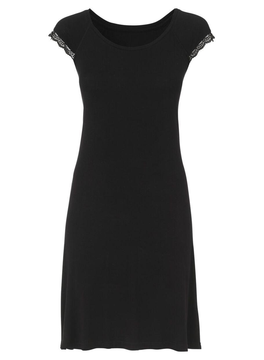 42466e9ddf4 afbeeldingen dames nachthemd zwart zwart - 1000002899 - HEMA