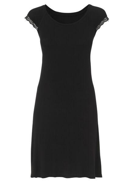 dames nachthemd zwart zwart - 1000002899 - HEMA