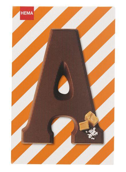 karamel zeezout melkchocoladeletter A - 10039001 - HEMA
