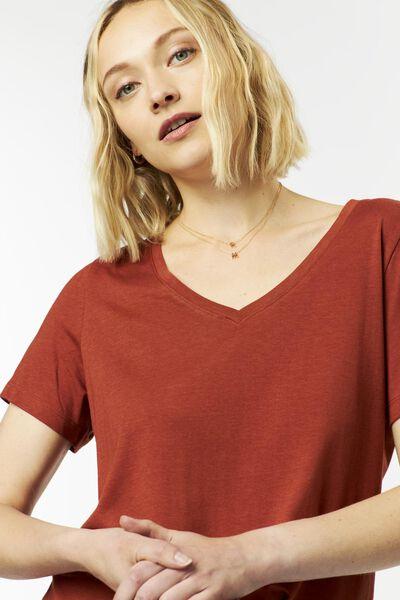 dames t-shirt bruin bruin - 1000024871 - HEMA