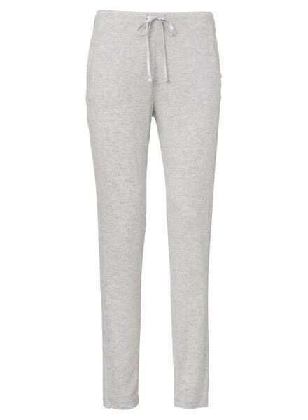 dames pyjamabroek grijsmelange grijsmelange - 1000002870 - HEMA