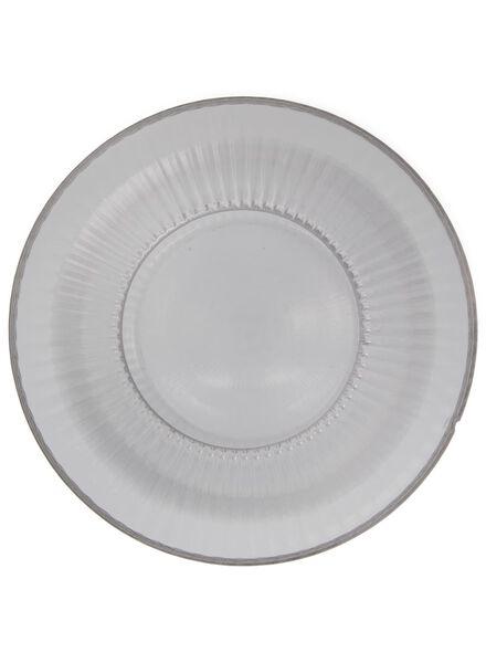 vaas - 26.5 x Ø 11.5 cm - transparant glas ribbel - 13392032 - HEMA