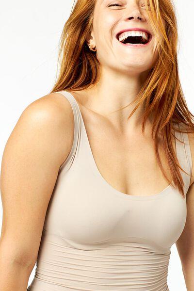 dameshemd second skin beige XL - 21580524 - HEMA