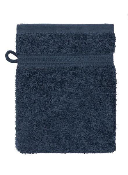 washandje zware kwaliteit 16 x 21 - jeans blauw - 5240178 - HEMA