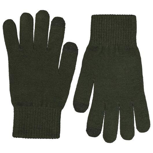 2-pak herenhandschoenen  touchscreen zwart zwart - 1000020395 - HEMA