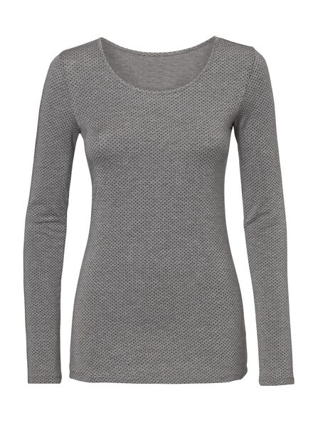 dames thermo t-shirt grijsmelange - 1000002008 - HEMA