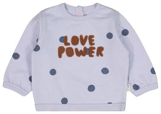 babysweater love power lila lila - 1000022187 - HEMA
