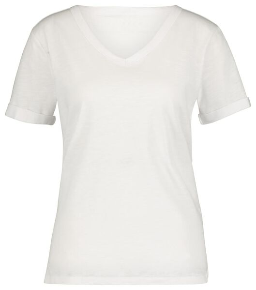 dames t-shirt wit S - 36282219 - HEMA