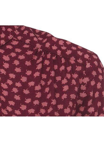 damesblouse donkerrood - 1000011567 - HEMA