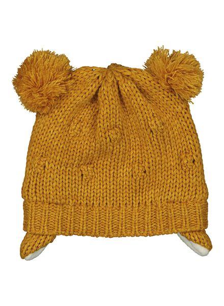 babymuts mosterdgeel mosterdgeel - 1000014444 - HEMA