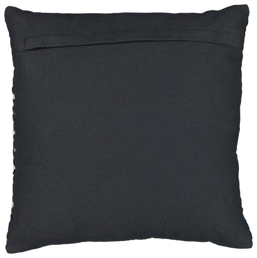 Dagaanbieding - kussen gevuld 50x50 structuur grijs/wit dagelijkse koopjes