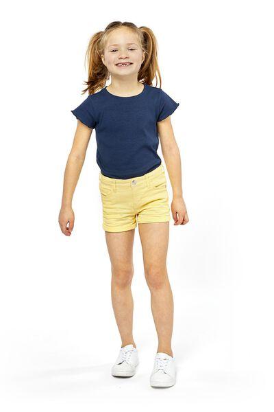 kindershort geel geel - 1000018507 - HEMA