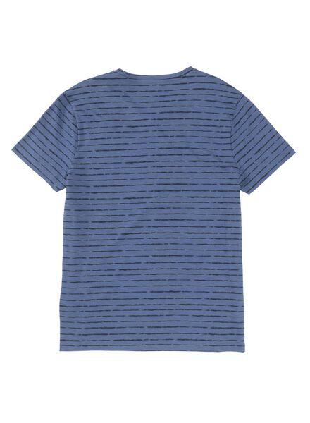 heren t-shirt blauw blauw - 1000009030 - HEMA