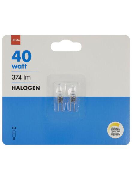 halogeen 40W - 374 lumen - steeklamp - helder - 2 stuks - 20022012 - HEMA