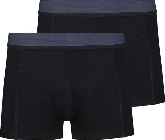 2-pak herenboxers kort met bamboe donkerblauw donkerblauw - 1000018790 - HEMA