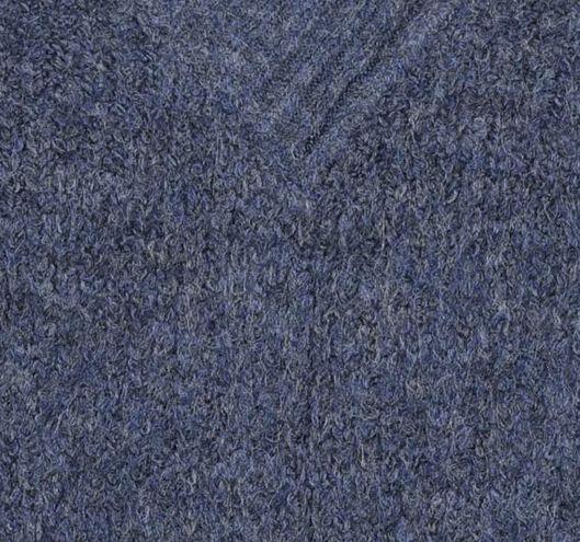 damestrui met v-hals gebreid donkerblauw - 1000021157 - HEMA