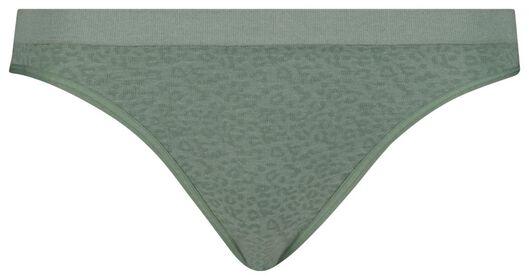 damesslip naadloos groen groen - 1000018639 - HEMA