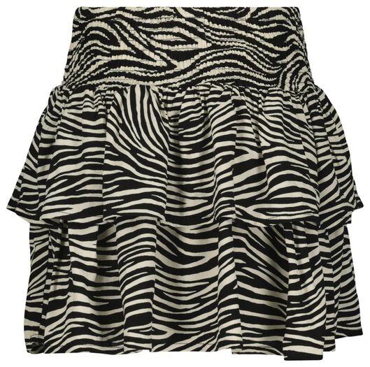 kinderrok zebra gebroken wit 122/128 - 30826624 - HEMA